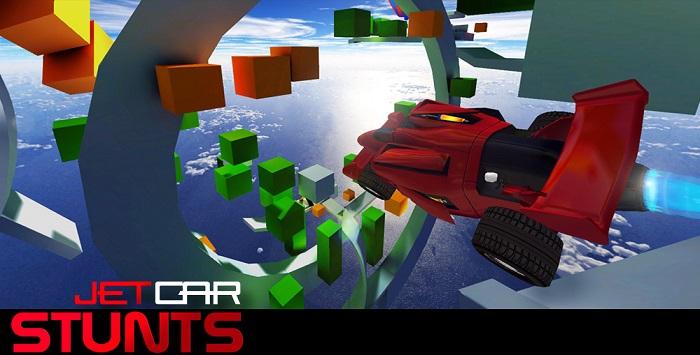 بازی سه بعدی و بسیار زیبا و مهیج Jet Car Stunts 1.06 اندروید